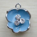 Rhinestone Metal Charm (China)