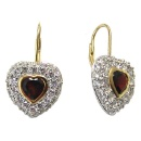 Silver Earrings With CZ & Gemstone (China)