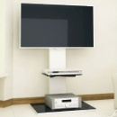 Super Economy Stylish Glass and Wood TV Stand, Small Order Available (China)