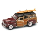 1948 Ford Woody with Surf Board - Scale 1:18 Premiere Die Cast Collectible Car (Hong Kong)