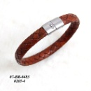 Braided Leather Bracelet  (Hong Kong)