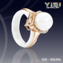 Ceramic IP Gold Plated Silver Ring (China)