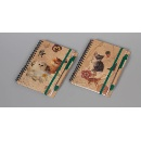 Recycle Paper Double Wire Spiral Note Book (Taiwan)