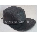 Flat Brim Leather Strapback Cap (Hong Kong)