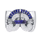 Sapphire and Diamond Cuff Bangle (USA)