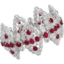 Burmese Unheated Ruby Diamond Bracelet (Hong Kong)