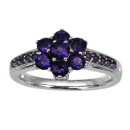 14K White Gold Amethyst Ring (Hong Kong)