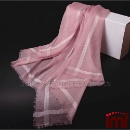 Elegant Silk Border Cashmere Cape Shawl (China)