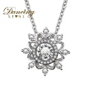 Dancing Stone Brand Jewelry Dance with Snow Pendant 925 Sterling Sliver Pendant Wholesale and Retail (Hong Kong)