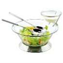 Silver Plated Salad Bowl Set (Hong Kong)