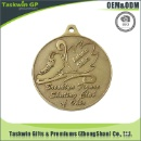 Iron Stamped Medal with Antique Gold, Brass Finished (Hong Kong)