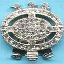 925 silver clasp with C.Z (Hong Kong)