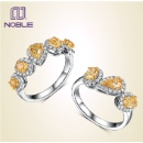 18K Gold Yellow Diamond Halo Ring (Hong Kong)