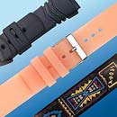 Synthetic watchstrap, PVC, PU, Silicone, Velcro etc (Hong Kong)