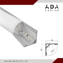 Anodized aluminum with 45 degree cover corner led aluminum profile (Hong Kong)