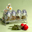 Spice Jar Set with Metal Stand (China)
