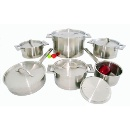 Straight Bottom Stainless Steel Cookware Set (China)