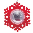 "Water Globe ""photo insert"" Laser Cut Ornament (Hong Kong)"