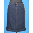 Imitation Leather Dcor Denim Skirt (Hong Kong)