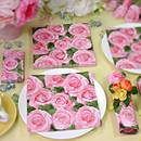 Rose-Pattern Paper Napkin (China)